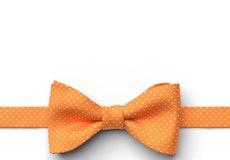 Tangerine Pin Dot Pre-Tied Bow Tie