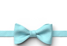 Turquoise Pin Dot Pre-Tied Bow Tie