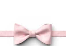 Tea Rose Pin Dot Pre-Tied Bow Tie