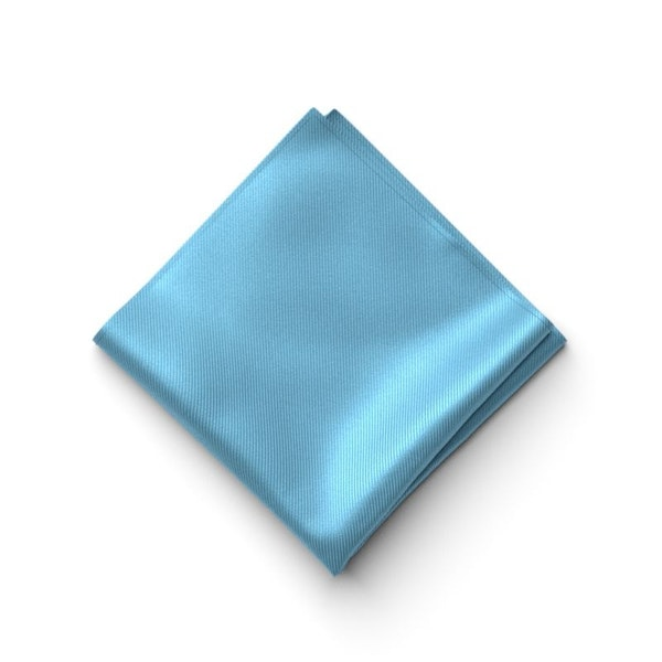 Blue Ice Pocket Square