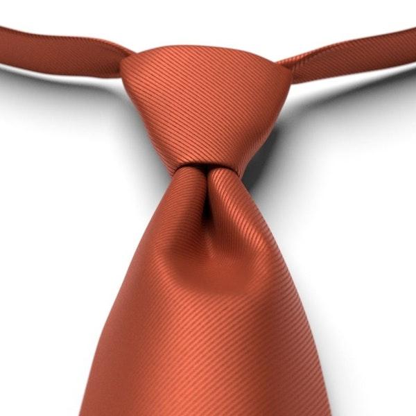 Burnt Orange Pre-Tied Tie
