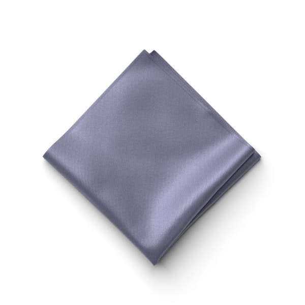 Pewter Pocket Square