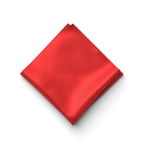Ferrari Red Pocket Square