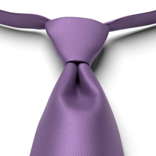 Purple Pre-Tied Tie
