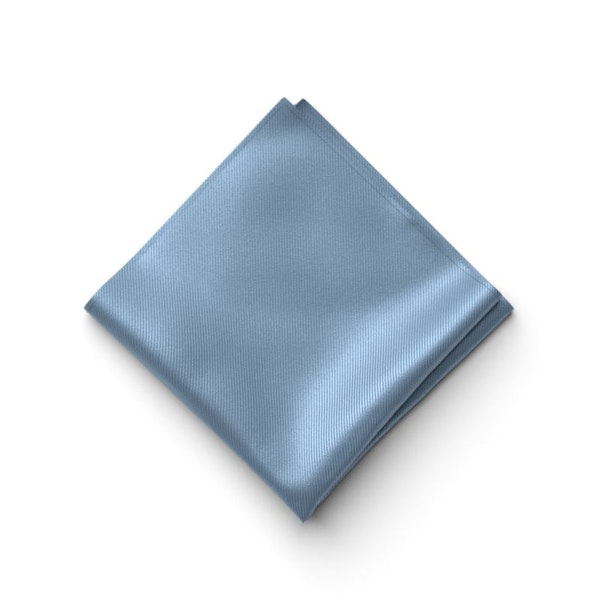 Steel Blue Pocket Square