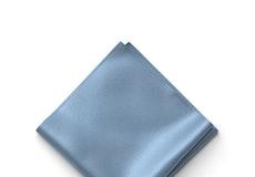 Steel Blue Pocket Square