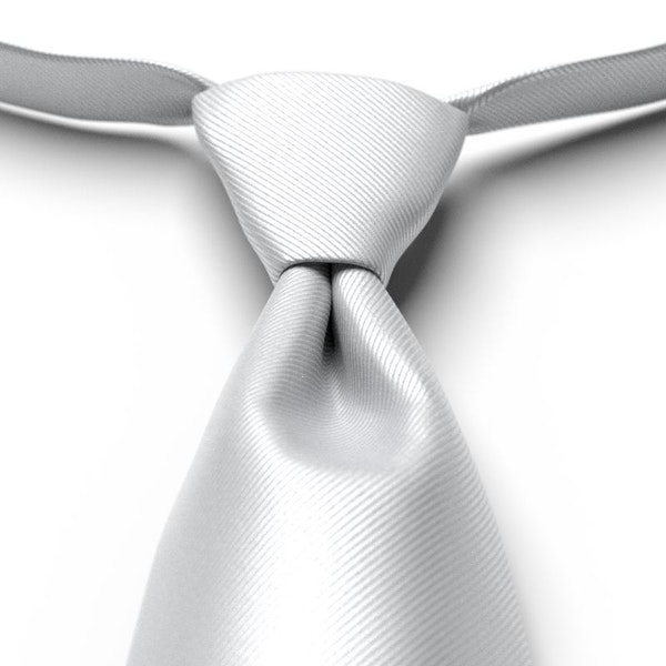 Silver Pre-Tied Tie