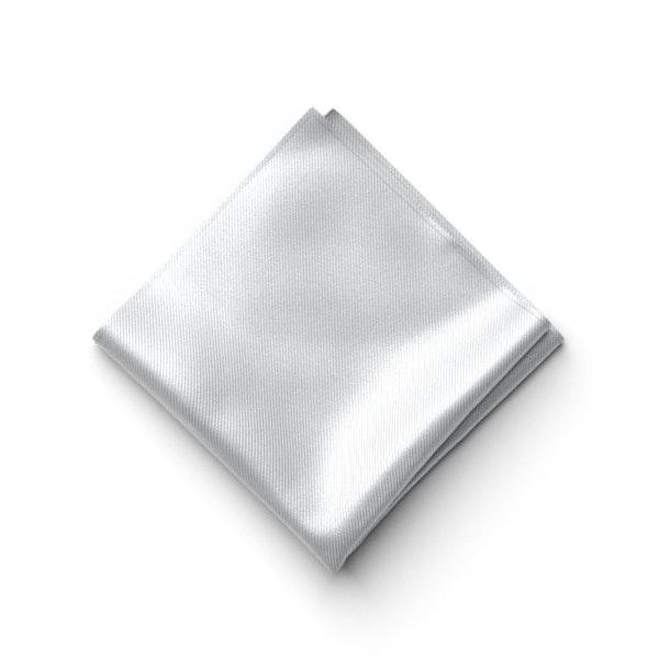Silver Pocket Square