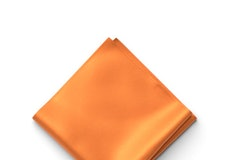 Tangerine Pocket Square