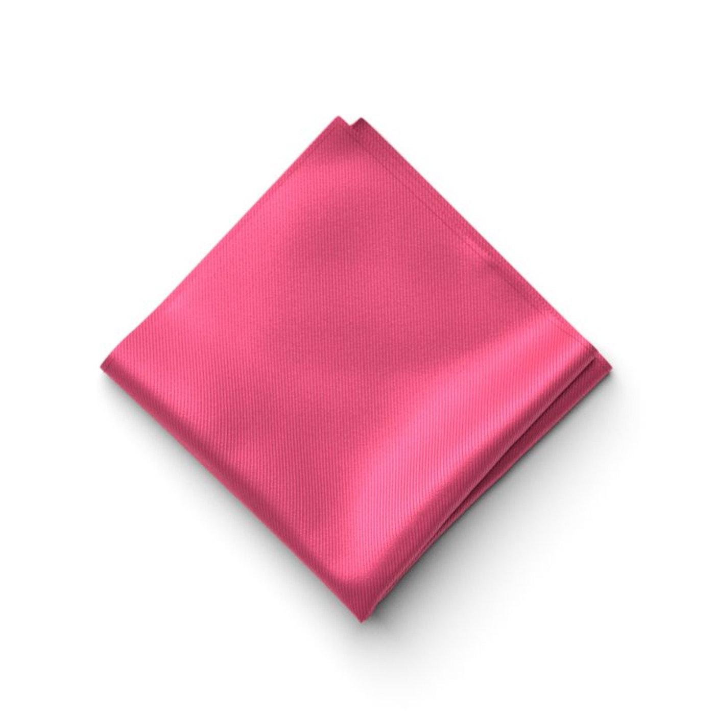 Men's Deep Pink Pocket Square