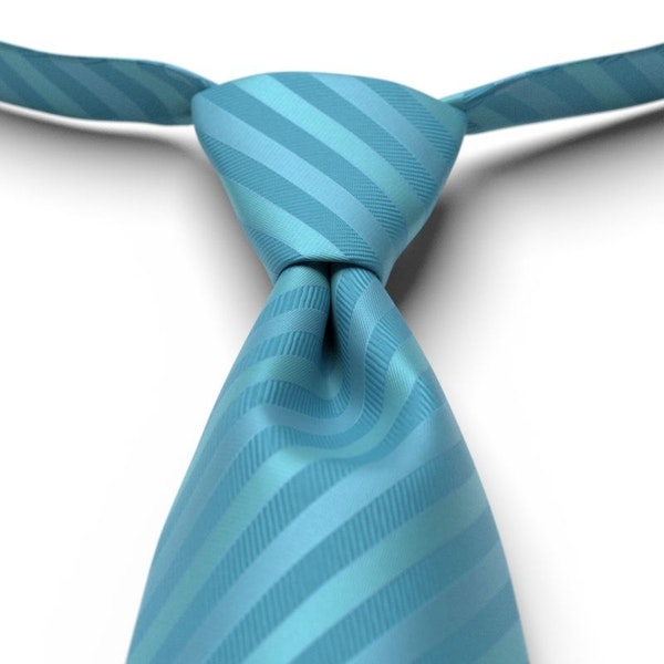 Aqua Marine Pre-Tie Striped Tie