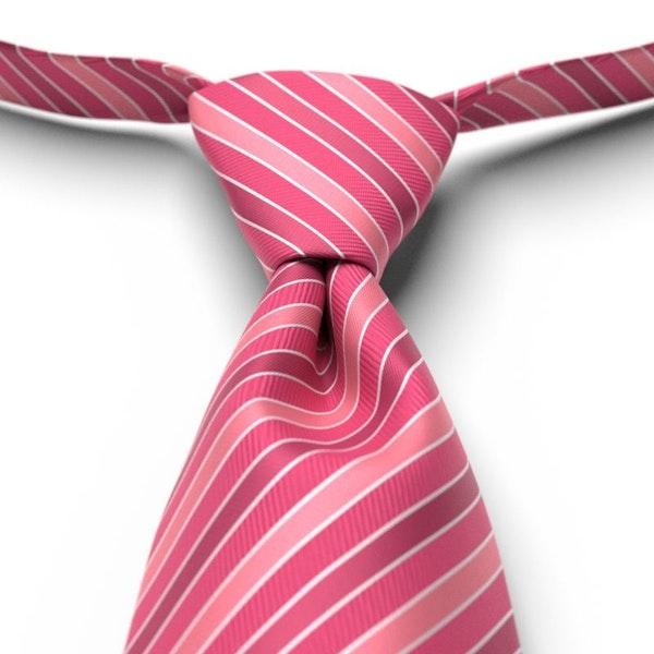 Bright Fuchsia Striped Pre-Tied Tie