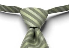 Clover Pre-Tied Striped Tie