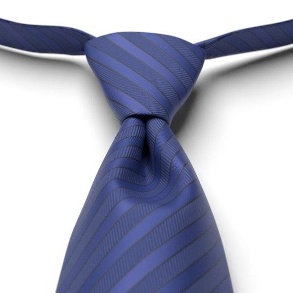 Cobalt Striped Pre-Tied Tie