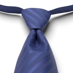 Cobalt Pre-Tie Striped Tie