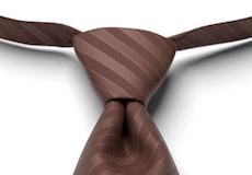 Cocoa Striped Pre-Tied Tie