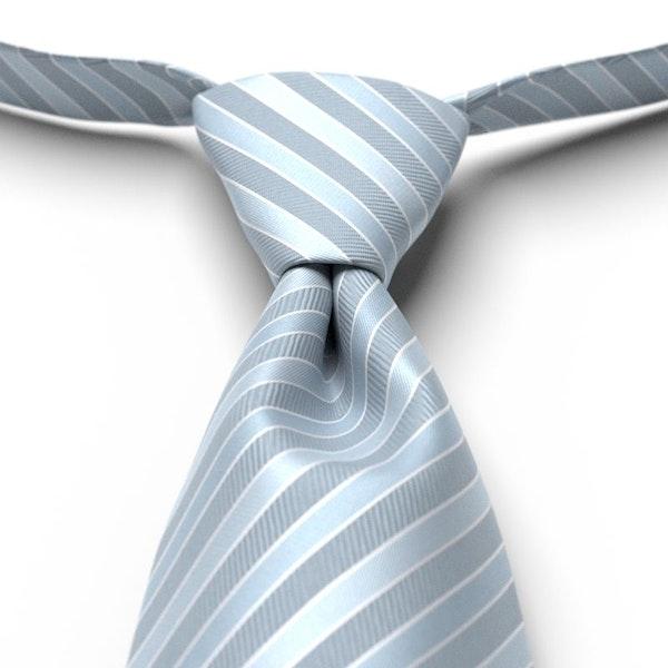 Desert Blue Pre-Tied Striped Tie
