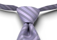 Freesia Striped Pre-Tied Tie