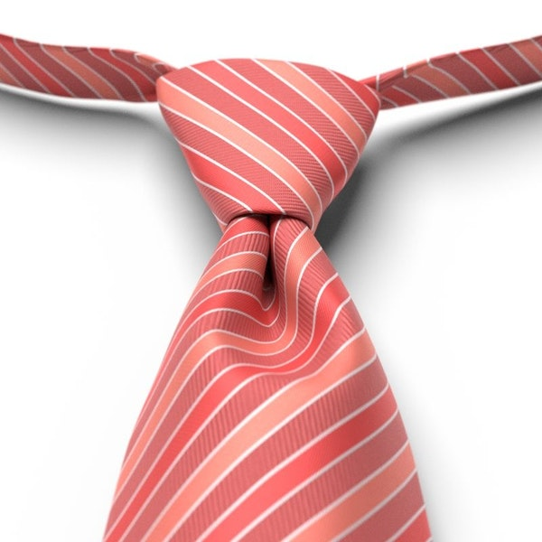 Guava Striped Pre-Tied Tie