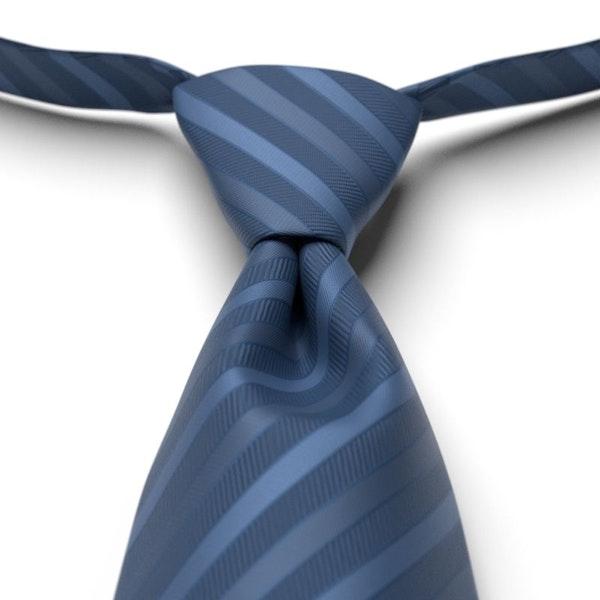 Indigo Pre-Tied Striped Tie