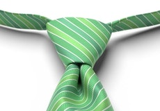 Kelly Green Striped Pre-Tied Tie