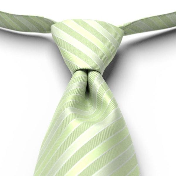 Lime Pre-Tied Striped Tie