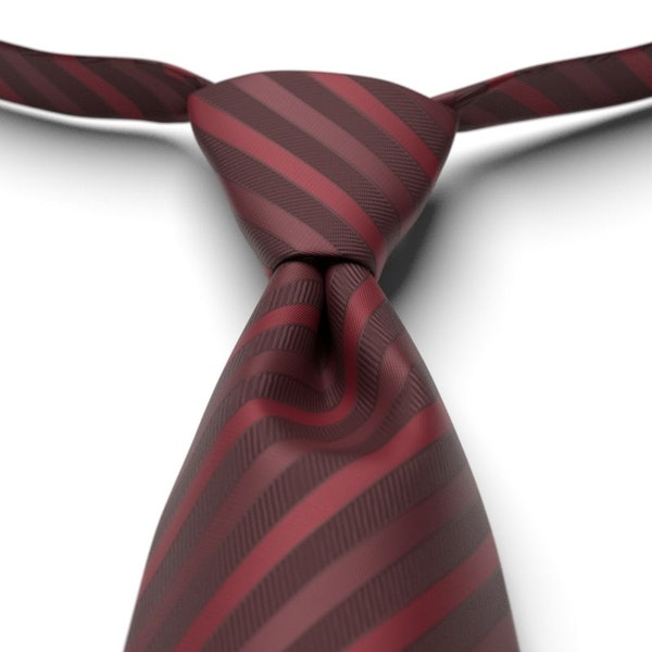 Merlot Striped Pre-Tied Tie