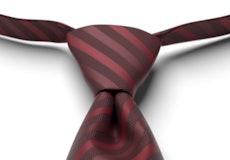 Merlot Pre-Tied Striped Tie