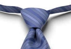 Morning Glory Pre-Tied Striped Tie