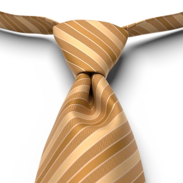 Midas Gold Striped Pre-Tied Tie