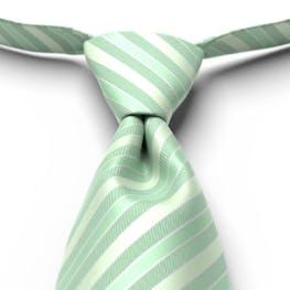 Mint Green Pre-Tied Striped Tie