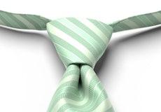Mint Green Striped Pre-Tied Tie