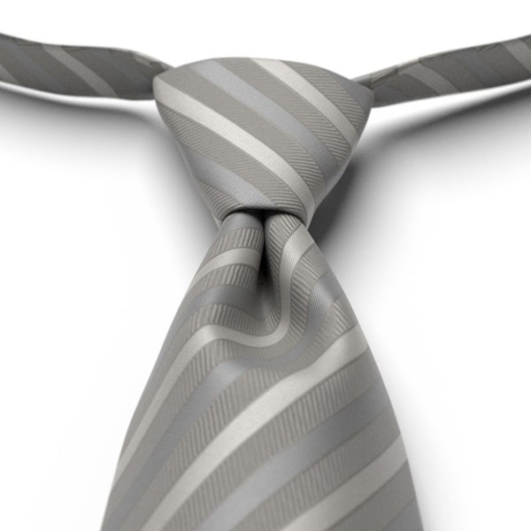 Mercury Striped Pre-Tied Tie