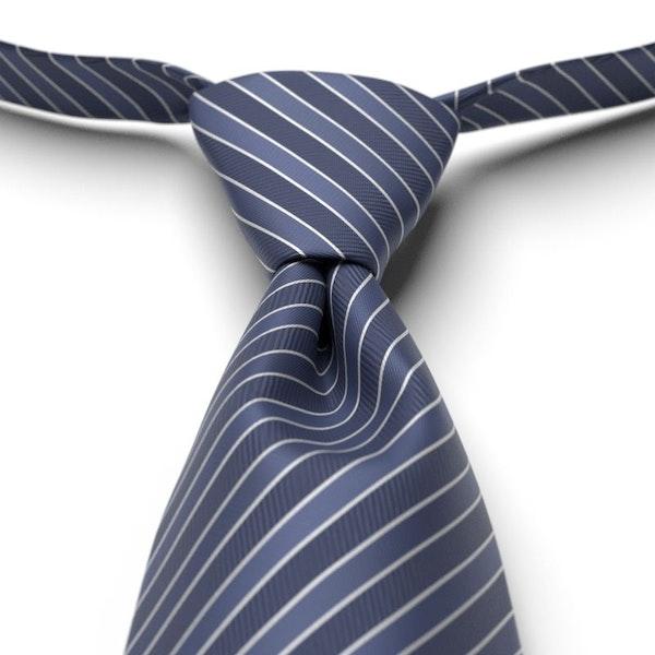 Marine Striped Pre-Tied Tie