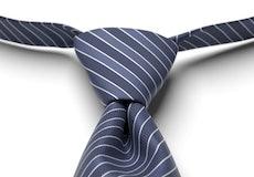 Marine Pre-Tied Striped Tie
