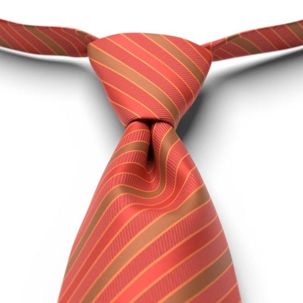 Persimmon Striped Pre-Tied Tie
