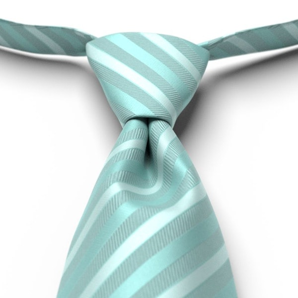 Pool Striped Pre-Tied Tie