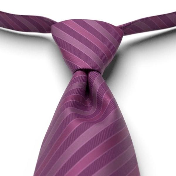 Persian Plum Pre-Tied Striped Tie