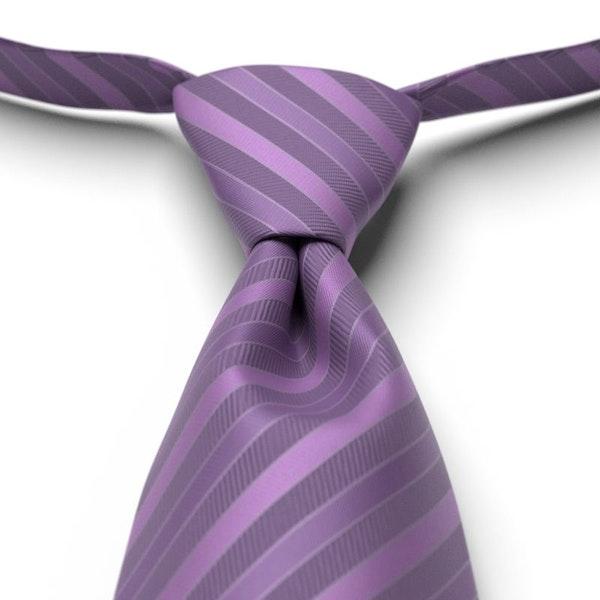 Purple Striped Pre-Tied Tie