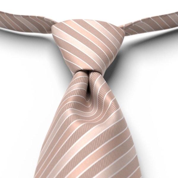 Rose Gold Striped Pre-Tied Tie