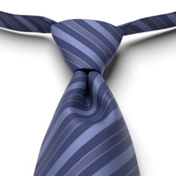 Sapphire Striped Pre-Tied Tie