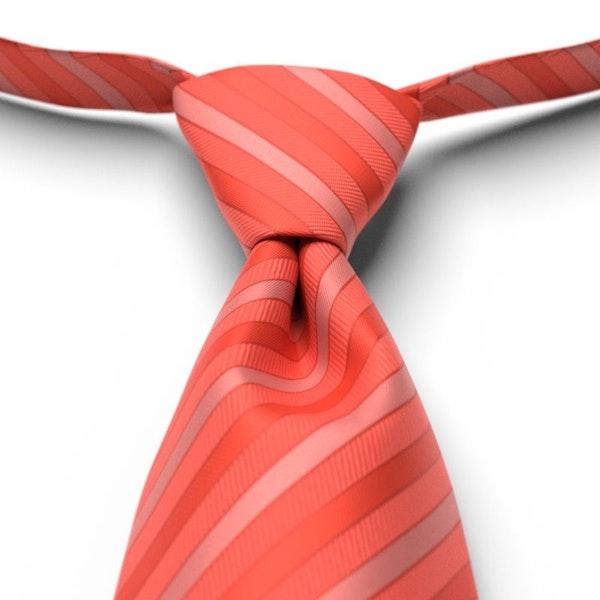 Sun Coral Striped Pre-Tied Tie