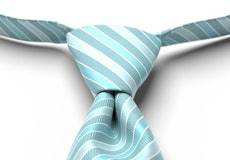 Turquoise Pre-Tied Striped Tie