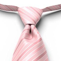 Tea Rose Pre-Tied Striped Tie