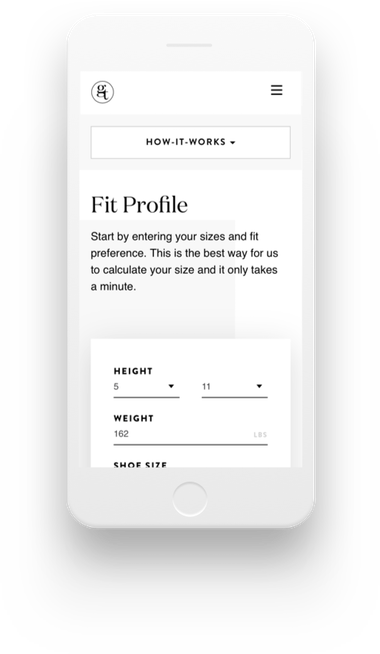 Gentux Fit Profile on mobile device
