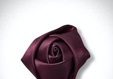 Sangria Rose Lapel Pin