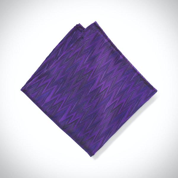 Viola Zig Zag Pocket Square