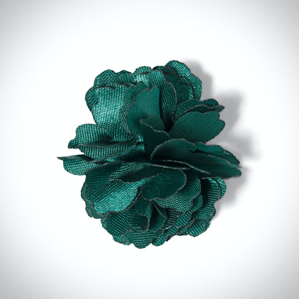 Jade Carnation Lapel Pin