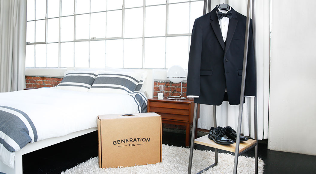 generation tux box and look hanging in bedroom
