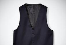 Navy Peak Lapel Tuxedo Vest